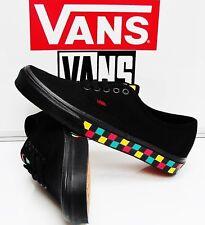 Vans Authentic Checker Tape Black/Black Rasta VN0A38EMMOQ Men's Size: 10