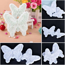 Hot Butterfly Cake Fondant Decorating Sugarcraft Cookie Plunger Cutters Mould