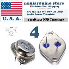 4pcs 2N3055 NPN AF Amp Audio Power Transistor 15A/60V Bipolar
