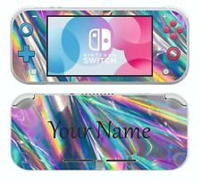 Nintendo Switch LITE PERSONALISED HOLO STYLE Sticker Game Skins Decals cover