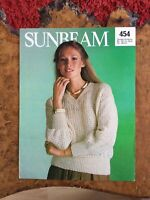 Womens knitting patterns.jumpers.size 32-38 inch bust.DK.Sunbeam pattern