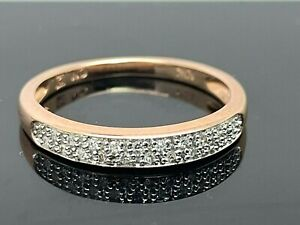 Wedding Band Diamonds 0.10ctw 10k Rose Gold Ring Women's Size 5