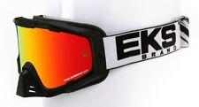 "EKS X Brand 2017 Goggles ""S"" Model Black/White MX ATV Motocross Offroad"