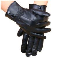 1X(Leather  Cycling Motorcycle Motorbike Bike Riding Warm Glove Winter BlacX9F4)