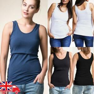 Pregnant Nursing Women Tank Tops Maternity Breastfeeding Sleeveless T-Shirt Vest
