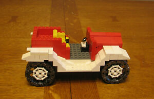LEGO  CUSTOM  CITY  TOWN  RED AND WHITE JEEP  NO MINIFIGURES
