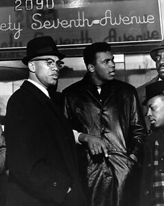 Cassius Clay MUHAMMAD ALI & MALCOLM X 8x10 Photo Vintage Print Glossy Poster