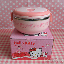 Hello Kitty Cute Lunch Box Food Container Storage Box Portable Bento Box Pink