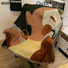 Minimalist Turkish Throw Blankets Cotton Tapestry Wall Hanging Quilt Sofa Cover