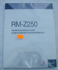 SUZUKI RMZ 250 Mod.2013 Fahrerhandbuch Reparaturanleitung-Bedienungsanleitung