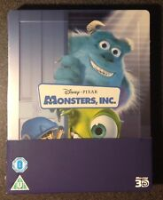MONSTERS INC 3D Blu-Ray SteelBook UK Exclusive Disney Pixar 2-Disc 1st Ed. Rare!
