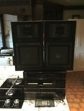 Vintage JVC double cassette stack system and two speakers 1980s