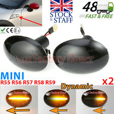 Mini R56 Scuttle indicators Smoked Dynamic side Repeaters Cooper S LUXFACTORY