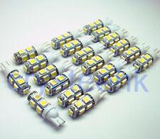 20 x T10 194,168,2825, 9 x 5050 SMD LED White Super Bright Car Lights Lamp Bulb