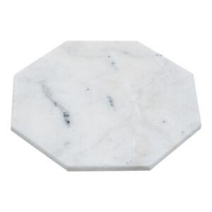 White Marble Octagonal Trivet Pan Rest Tableware Hot Dish Worktop Protector