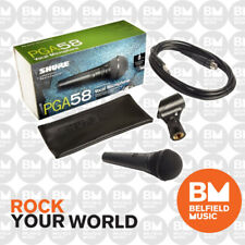 Shure PGA58 Wired Microphone Handheld Mic Vocal XLR-QTR Cable PGA-58 Replac PG58