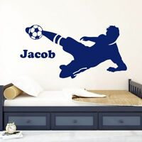 Personalised Football Player Boys Bedroom Wall Art Vinyl Decal GIFT Sticker V90