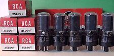 5 Unused RCA 25L6 GT Vacuum Tubes