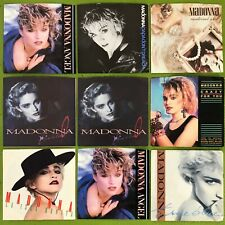 "LOT:10 MADONNA NM 7"" PICTURE SLV 45s~QUIEX AUDIOPHILE~MATERIAL~VIRGIN~PAPA~LIVE"