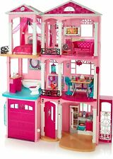 New ListingBarbie Dream House Doll House with 70+Accessories+Accessible Elevator+Pool