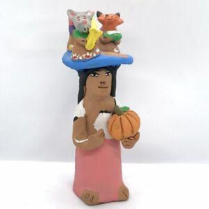 Josefina Aguilar Clay Art Figure Handcrafted Muneca Oaxaca Mexican Folk Art