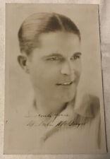Signed Rare Malcolm McGregor 4.25� X 6.5�Picture 1920's Silent Film Actor