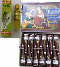 6 Kaveri natural herbal henna cones temporary tattoo body art mehandi oil free