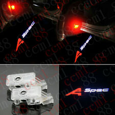 2x A-spec Logo LED Door Courtesy Laser Projector Lights For Acura RDX 2019-2020