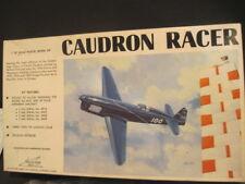 OLD WILLIAMS BROS. CAUDRON RACER AIRPLANE PLANE MODEL KIT
