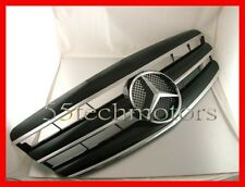 Mercedes W221 S350 S550 Grille Grill 3 Fins Black AMG New 2007~2009
