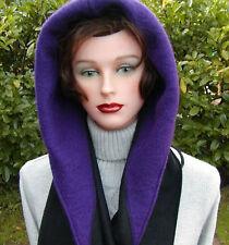 Damenmütze Schalmütze Capuchon Kapuzenschal schwarz / lila  Mütze Hut warm Wind