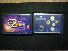 2000 RAM Proof Coin Set includes -Millennium Set with Coloured .50c - 6 Coin Set