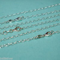 """3 pieces 20"""" 50cm 925 Sterling Silver 3x4mm OVAL ROLO CABLE Chain Necklaces LOT"""