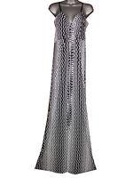 Plus size zig zag ity stretch maxi dress