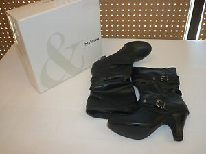 Style & Co Shoes Size 10 M New Womens Spunky Black Mid Calf Boots NWOB