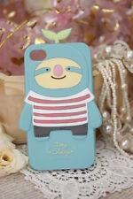 cover morbida Iphone 4 e 4s a forma di bradipo colore azzurro chiaro