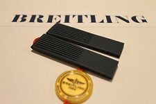 100% Genuine New Breitling Blue Ribbed Diver Pro Rubber Deployment Strap 22-20