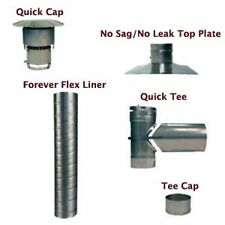 """Forever Flex 304L Stainless Steel Flue Liner Kit with Tee - 6"""" x 20'"""