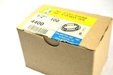 New Box Of 100 Arlington Industries 626405 Snap-In Bushing, 1/2 In. Cat. No 4400