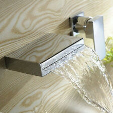 Wall Mounted Bathroom Tub Basin Filler Taps Bath Faucet Mixer Chrome Finish Tap