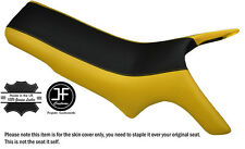 BLACK & YELLOW CUSTOM FITS MZ MASTIFF BAGHIRA DUAL LEATHER SEAT COVER ONLY