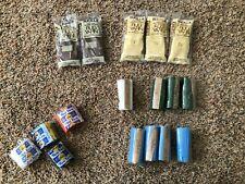 Rug yarn, mixed colors, acrylic, 17 pgks.