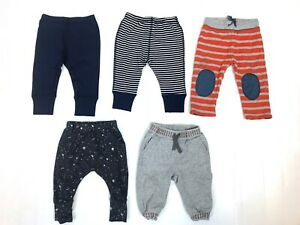Lot of 5 Hanna Andersson Moon Back Tea Boden Pants Baby Boy size 6-12 Months