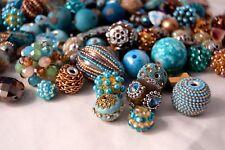20 pieces Jesse James Beads Earthtones , Indonesian, Hand Beaded JJB500