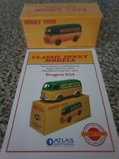 Atlas Dinky 25B Lamp Mazda Fourgon Tole Peugeot New And Sealed With Cerificate.