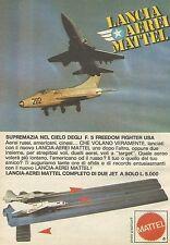 X7537 Lancia aerei Mattel - Pubblicità 1977 - Vintage Advertising