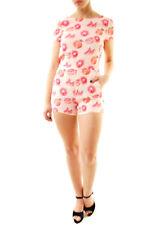 Wildfox Damen Grapefruit Bernstein Strampler Pullover Multi S UVP 125 € BCF612
