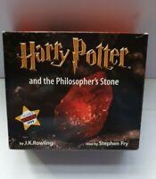 Harry Potter & the Philosopher's Stone - 7 CD Audiobook - Stephen Fry - VGC