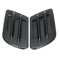 Car Bonnet Cover Carbon Fiber Air Intake Flow Side Vent Hood Scoop Sticker I7Y2