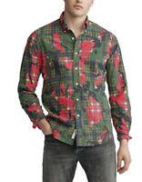 NWT $125 Ralph Lauren Polo Size M -Stuart Camo Classic Fit LS Oxford Dress Shirt